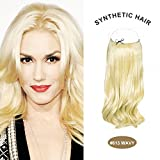 COCO Secret Extensions Curly Wavy Hair Extensions 20 inch bleach blonde by COCO