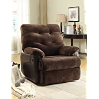 ACME 59175 Layce Morgan Fabric Recliner, Chocolate