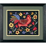 Dimensions Needlecrafts Crewel, Rooster On Black