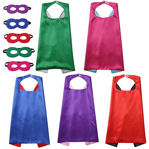 Crizcape Kids Capes Masks Set Children's DIY Dress