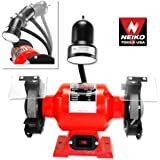 """Neiko 10210A 6"""" Professional Grade Bench Grinder with Flexible Light"""