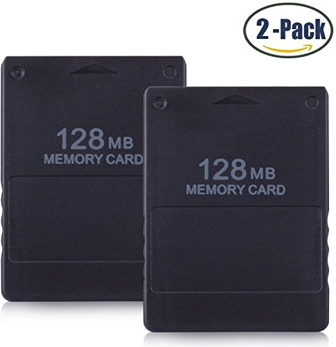 FIOTOK 2-Pack 128MB High Speed Memory Card for Sony PS2