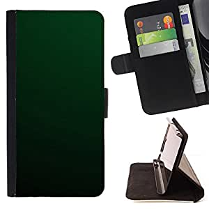 DEVIL CASE - FOR Sony Xperia m55w Z3 Compact Mini - Simple Green - Style PU Leather Case Wallet Flip Stand Flap Closure Cover