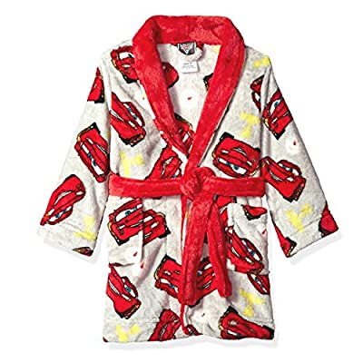 Disney Cars 3 Lightning McQueen Boys Fleece Bathrobe Robe (Toddler)