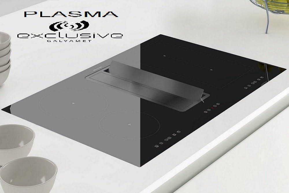 Galvamet Premium / COMPAK ONE IX-BACK 820 PLASMA/Campana de mesa Plasma Set de recirculación de aire con placa de inducción Flex / 9 niveles de potencia + Booster (nivel de potencia) /