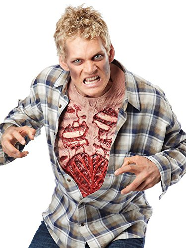 California Costumes Men's Zombie Chest, Flesh/Red, One Size