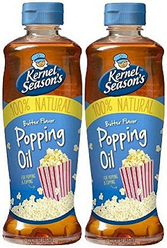 Kernel Season's Movie Theater Butter Popcorn Popping & Topping Oil 100% Natural 13.75 Oz (2 Pack)