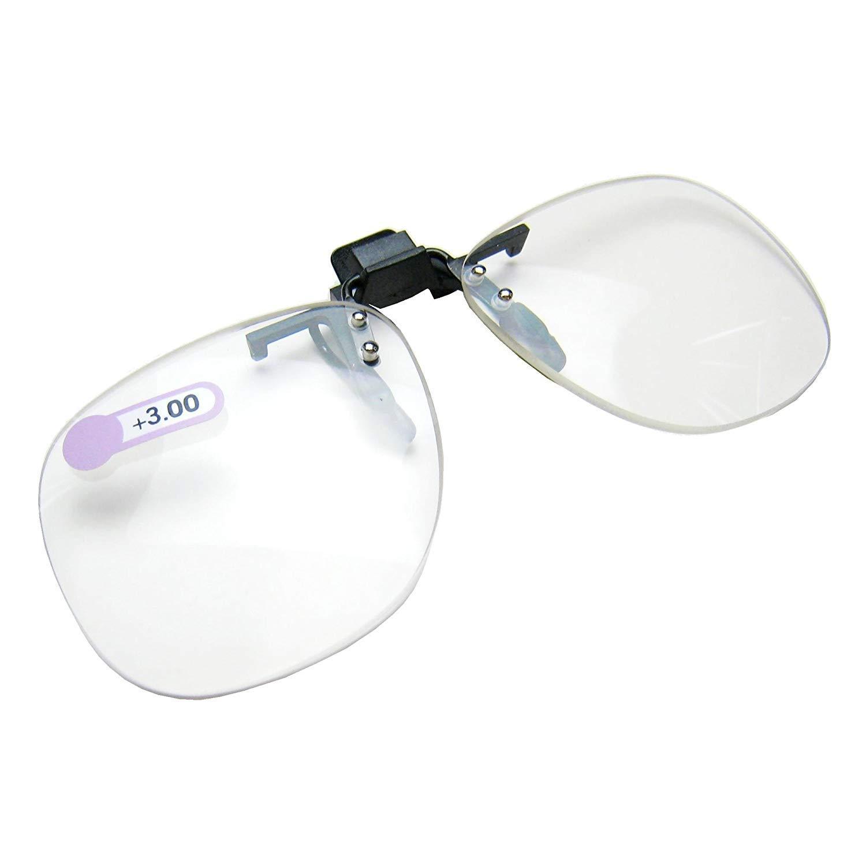 Daiso Giappone flip ottico clip occhiali da lettura ingrandimento 3.0 diottrie