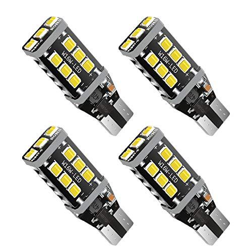 4pcs 921 921 LED Bulb Backup Reverse Lights, 15 Pcs Extremely Bright 2835 Chipsets Non-polarity CANBUS Error-free W16W T15 T10 LED Bulb for Backup Reverse Lights, 6500k White
