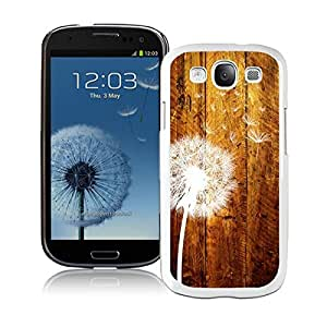 Samsung Galaxy S3 Case Dandelion Funny Slim White Cell Phone Case Cover