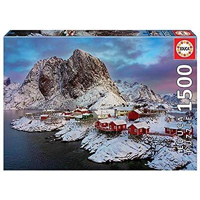 Educa Borras 1500 Isole Lofoten Norvegia Puzzle Multicolore 17976