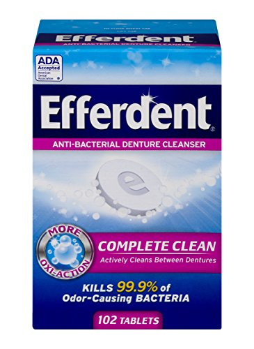 Efferdent Original Anti-Bacterial Denture Cleanser Tablets | 102 Count | Packaging May Vary