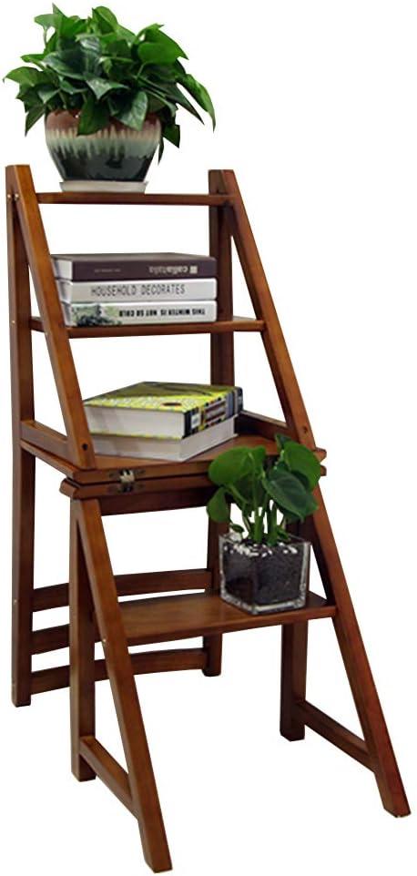 4 Niveles Taburete de Paso de Madera Casa Plegable escaleras de heces Estante Interior de la Flor/Taburete de Escalera Baño de casa Muebles de Oficina Servicio Pesado MAX. 150 kg: Amazon.es: Hogar