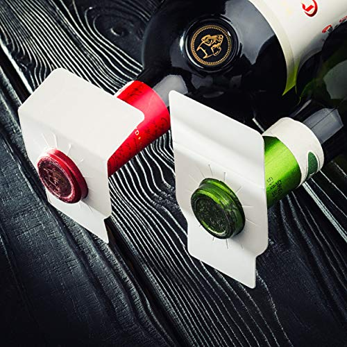 Wine bottle tags | 220 count | FOLDABLE Paper Cellar Labels