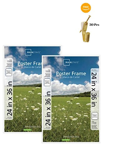 Mainstays`` 24x36 Basic Poster & Picture Frame White, Set of