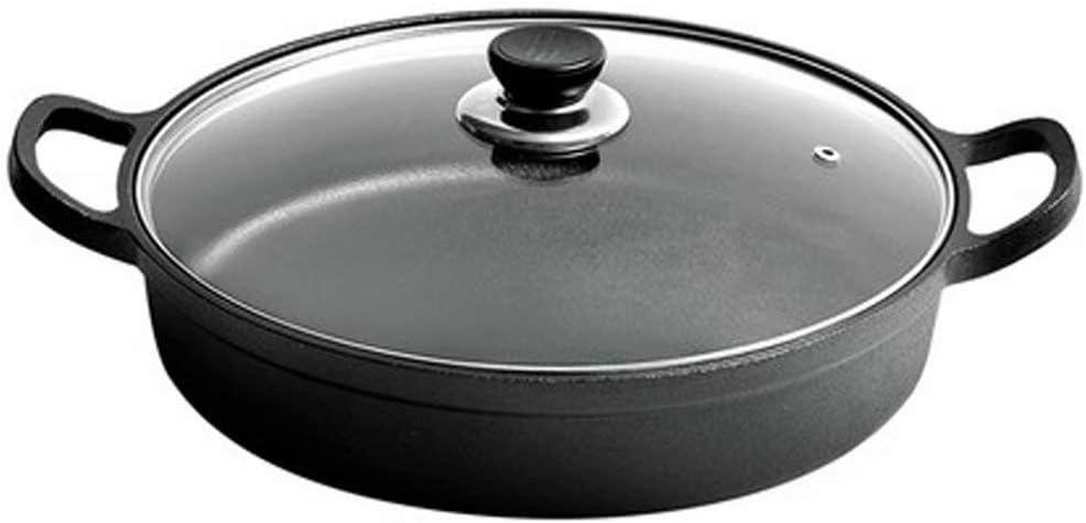 Estufa de Olla de Hierro Fundido sartén Engrosamiento Wok hogar sin Recubrimiento sartén panqueque Olla Cocina de inducción Estufa de Gas