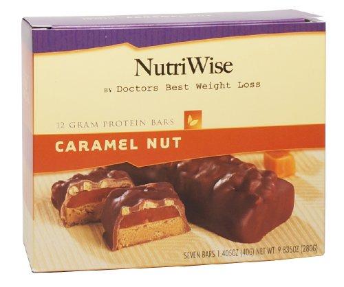 NutriWise - barras de caramelo tuerca dieta proteína (7 bares)