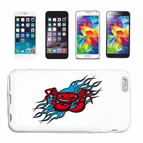 "cas de téléphone iPhone 7 ""CRAB CANCER DE PÊCHE MEDITERRANEE FISH SEAFOOD"" Hard Case Cover Téléphone Covers Smart Cover pour Apple iPhone en blanc"