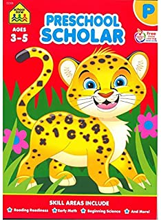 Preschool Scholar Deluxe Edition Workbook Ages 3 5 Tracing Letters Numbers