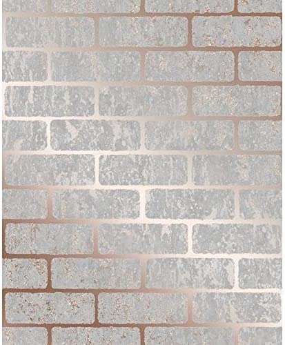 Amazon Com Misc Brick Rose Gold Wallpaper Pink Vinyl Home Kitchen