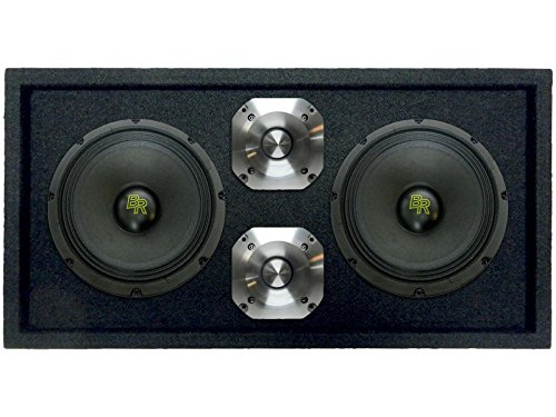 Mid Range Tweeter (Loaded 1200W Speaker Pod Box: 2 x 8
