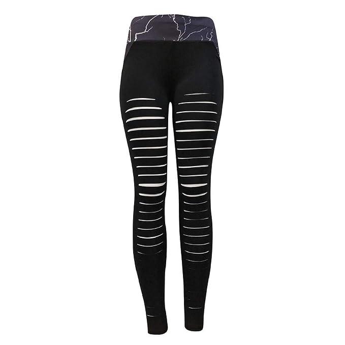 Amazon.com: REYO - Leggings sexy huecos para mujer de moda ...