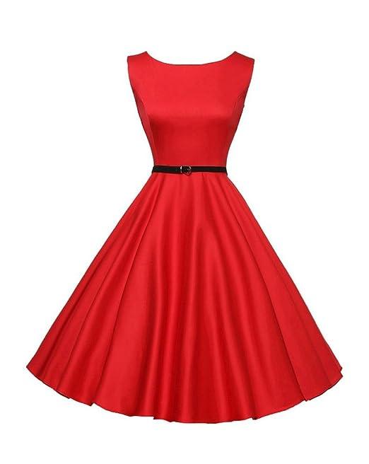 Vestidos Años 50 Mujer Vintage Fiesta Verano Elegante Vestido Retro Rockabilly 1950S Cóctel Audrey Hepburn Para