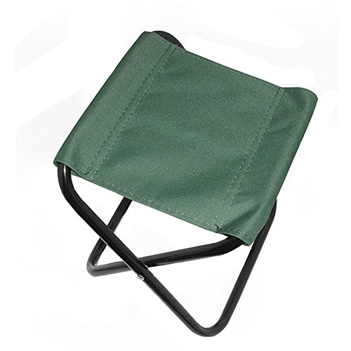 Portable Folding Chair Stool Camping Chairs Fishing Travel Outdoor, Army Green by Kylin Express
