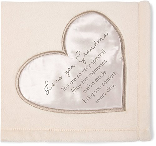 Pavilion Gift Company 19503 Comfort Love You Grandma Thick Warm 320 GSM Royal Plush Throw Blanket
