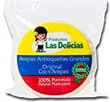 Arepas Antioqueñas Blancas Pre-Asadas (5 PACKS)(25 UNITS) White Corn Pre-Heated Arepas