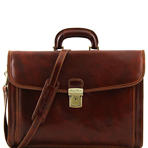 8100274 - TUSCANY LEATHER: NAPOLI - Cartable en cuir, marron