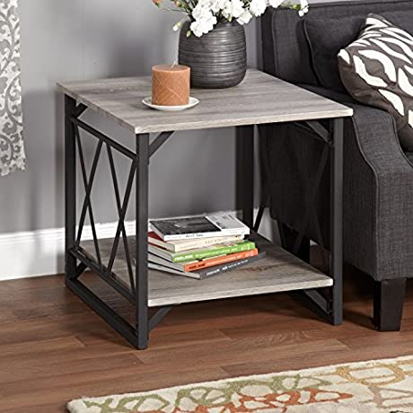 Metro Shop Seneca XX Black Grey Reclaimed End Table By Simple Living
