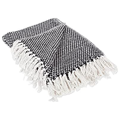 "DII 100% Cotton Basket Weave Throw for Indoor/Outdoor Use Camping Bbq's Beaches Everyday Blanket, 50 x 60"", Black - CONSTRUCTION - Throw measures 50 x 60"", 100% Cotton QUALITY IN THE DETAILS - Old-fashioned look with a modern twist with decorative fringe for the perfect finish that won't unravel in the wash FITS THE RUSTIC, VINTAGE, OR DISTRESSED LOOK - This throw has a very chic and trendy look, throw over a couch or chair to add a splash of color and provide warmth on a cold night - blankets-throws, bedroom-sheets-comforters, bedroom - 51yXKpAT7hL. SS400  -"