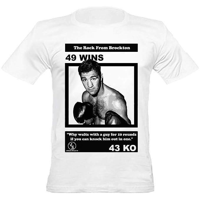 Camisa de Rocky Marciano boxeo invicto de cuello redondo camiseta cabida de los hombres de Shaolin