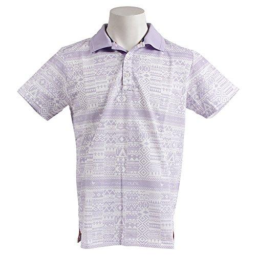 クランク Clunk 半袖シャツ?ポロシャツ マヤボーダー半袖ポロシャツ ラベンダー M