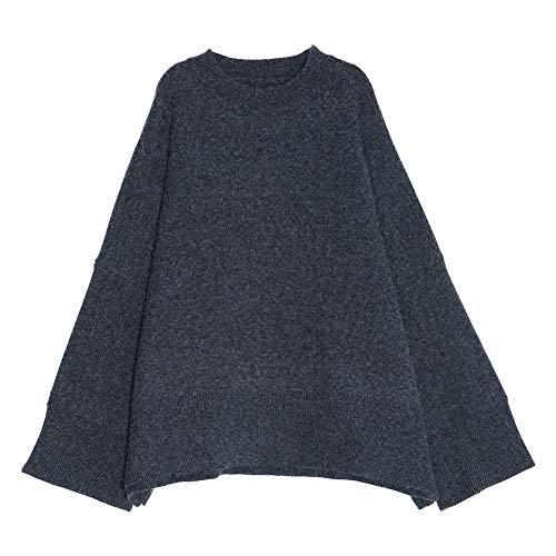 Sweatertide Ekfhos Dark Uniform Sweaterfemaleheadautumnnewstudentlooselong Gris Code Sleevesthinknitted Grey qqPAE