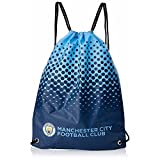 Cheap Manchester City FC Official Fade Football/Soccer Crest Drawstring Sports/Gym Bag (One Size) (Blue/Navy)