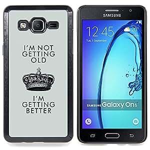 For Samsung Galaxy On5 O5 Case , Mejor de cumpleaños de Crown King - Diseño Patrón Teléfono Caso Cubierta Case Bumper Duro Protección Case Cover Funda