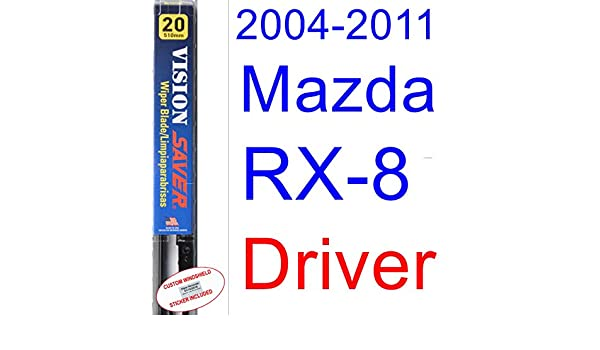 Amazon.com: 2004-2011 Mazda RX-8 Wiper Blade (Driver) (Saver Automotive Products-Vision Saver) (2005,2006,2007,2008,2009,2010): Automotive