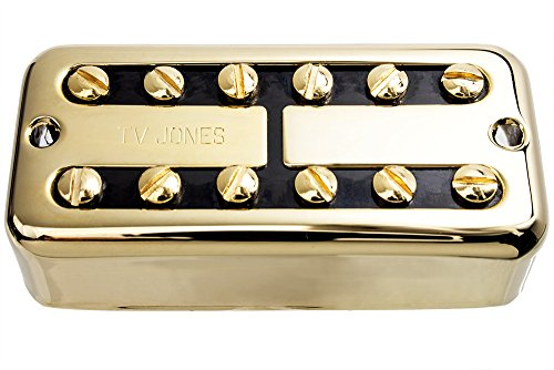 TV Jones TV Classic Guitar Bridge Pickup, Gold, Universal Mount