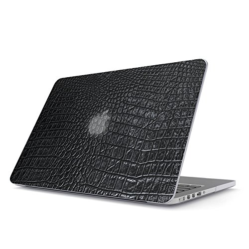 BURGA Hard Case Cover Compatible with MacBook Pro 15 Inch Case Release 2012-2015, Model: A1398 Retina Display NO CD-ROM Black Leather Skin