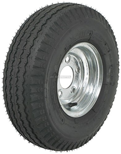 eCustomhitch 2-Pack Kenda Trailer Tire On Rim #5232 570-8 5.70-8 8 6 Ply LRC 5 Lug Galvanized