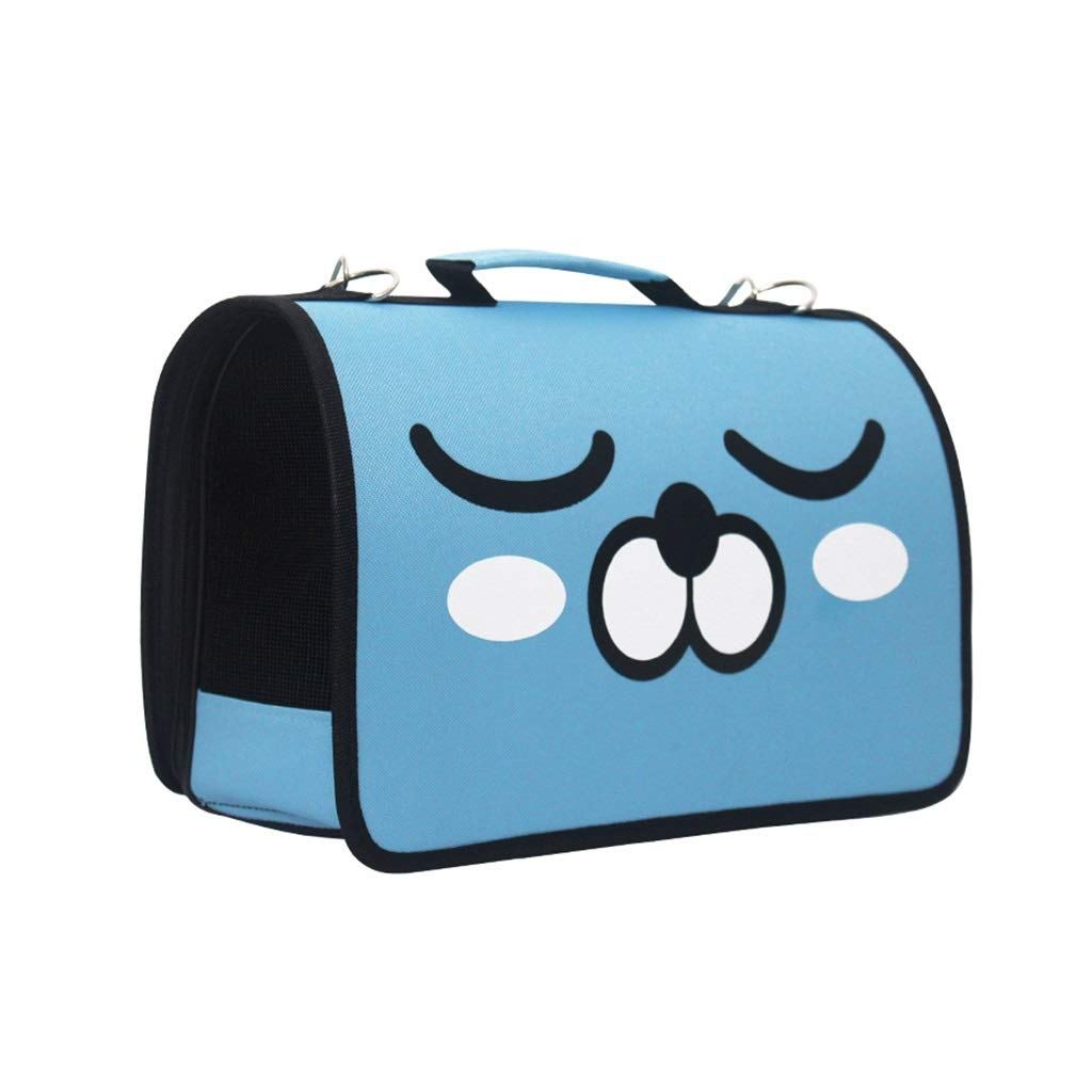 bluee S bluee S BTPDIAN Cat Bag Outing Cat Cage Portable Dog Bag Breathable Cat Bag Cat Backpack Cat Bag Suitcase Pet Bag (color   bluee, Size   S)