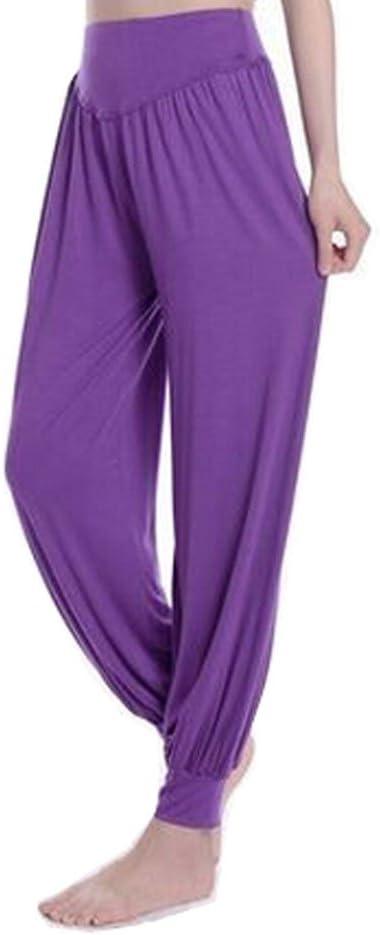 Kylin Express Super Soft Modal Spandex Harem Pilates Yoga Capri Pants Womens,Breathable