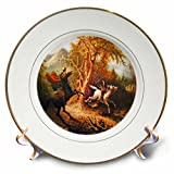 3dRose cp_36406_1 Headless Horseman Pursuing Ichabod Crane Painting-Porcelain Plate, 8-Inch