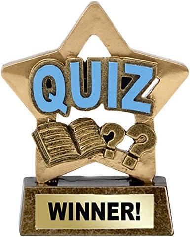 TPM Trading Multibuy - Pack de 10 trofeos de ganador de Quiz (8 cm): Amazon.es: Deportes y aire libre