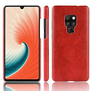 Huawei Mate 20 Leather Skin Case Cover - Red.
