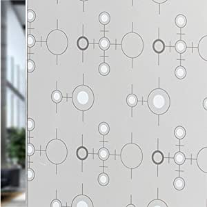 NiuChong 17.7X39.3 Inch Self-Adhesive Privacy Glass Sticker Window Films - Window Glass Film for Bathroom Office Meeting Room Living Room Love Products #2