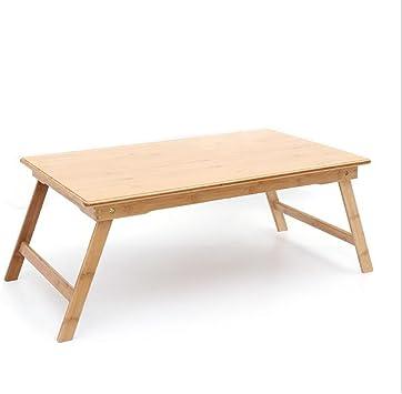 Mesa portátil Mesa de Estudio Plegable de bambú Escritorio de ...