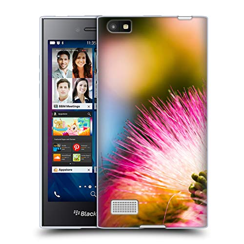 Official PLdesign Silk Tree Mimosa Flowers and Leaves Soft Gel Case for BlackBerry Leap